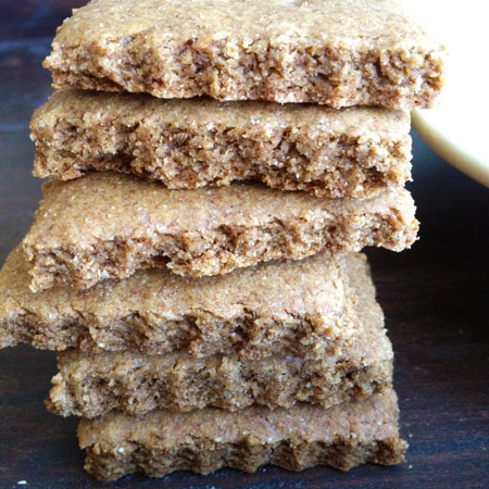 whole-wheat graham crackers.