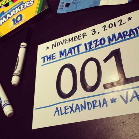 The First Annual Matthew Izzo Marathon!