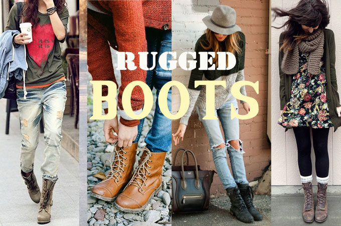 rugged combat boots style outfits