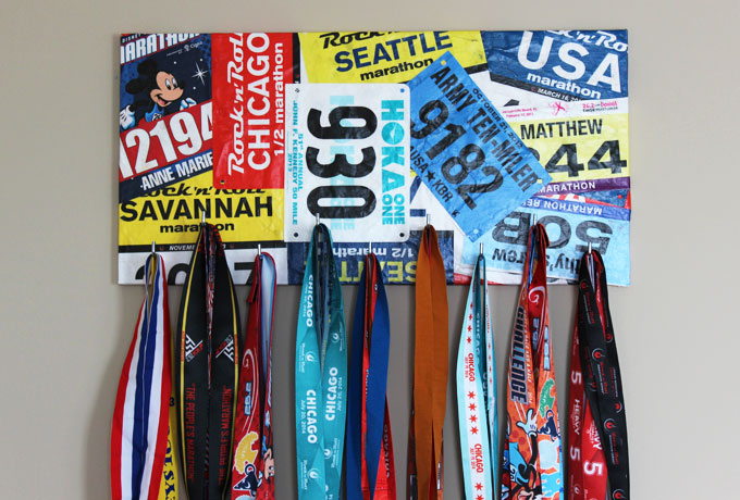 race bib marathon medal display final