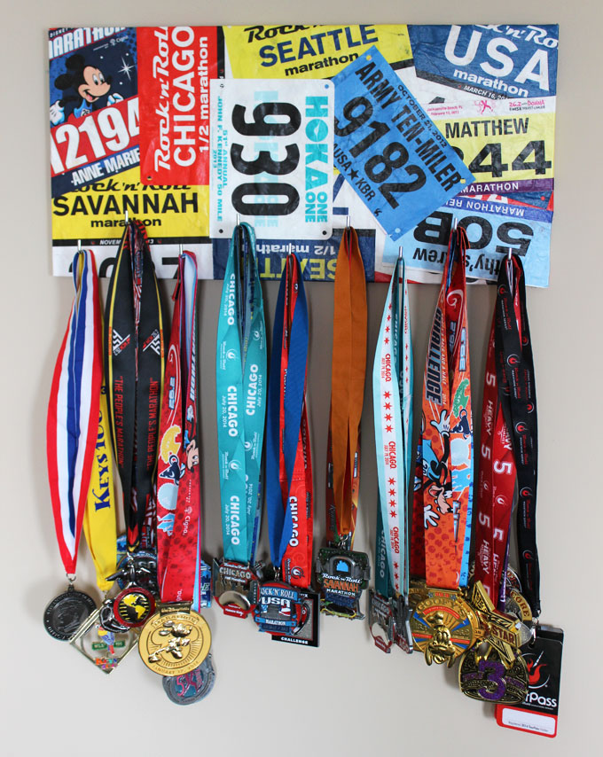 marathon medal hanger display