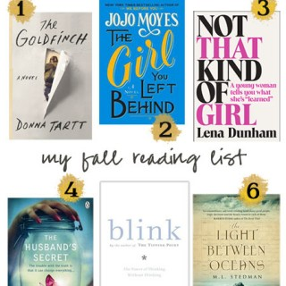 my fall reading list