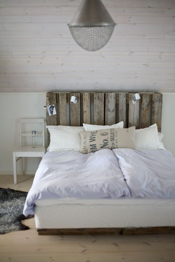 no headboard reclaimed wood