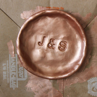 stamped clay ring dish