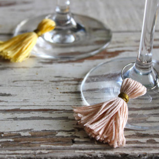 tassel wine charms – now for sale on Etsy!